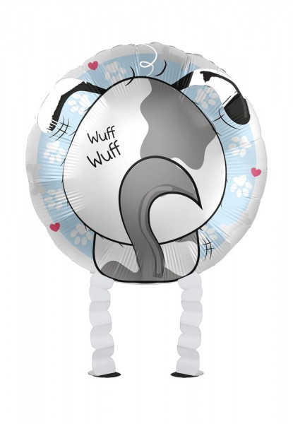 Niedlicher Hund Airwalker Folienballon 43cm