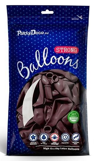 10 Partystar metallic Ballons brombeere 30cm