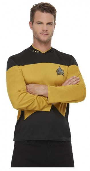 Star Trek next generation uniform shirt voor heren geel