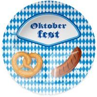 8 Oktoberfest Teller Bier Liesl 23cm
