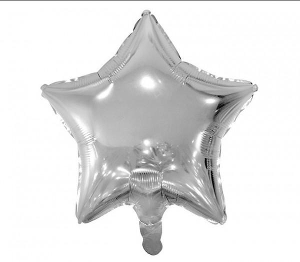 Folienballon Shiny Star silber 48cm 1