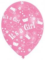 6 Ballons Willkommen Kleine Prinzessin 27,5 cm