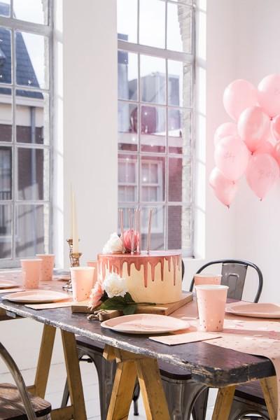 10 Happy Birthday Servietten Elegant blush roségold 4