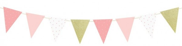 DIY One Star pennant chain pink-gold 1.3m