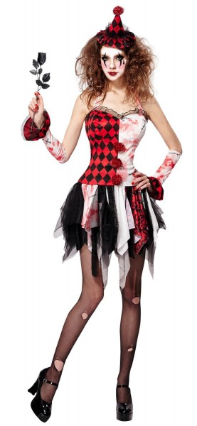 Playful Zombie Court Jester Ladies Costume