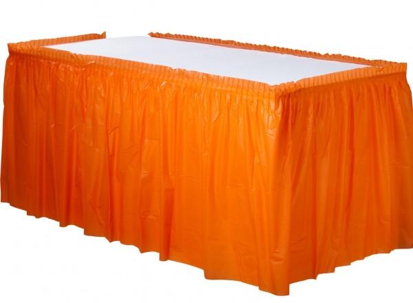 Tischumrandung Mila orange 4,26m x 73cm