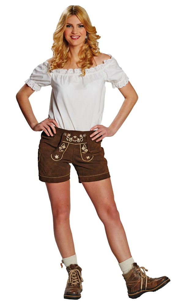 Kurze Lederhose für Damen