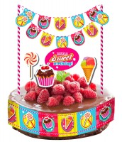 Sweet Birthday Tortendeko 10-teilig