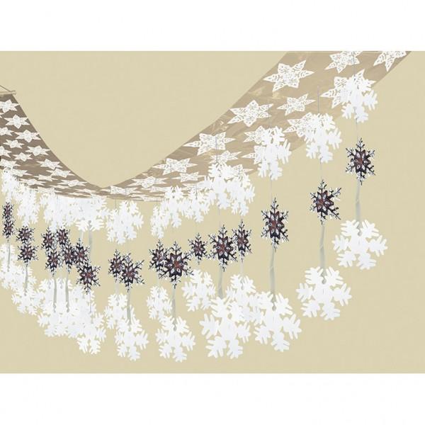 Snowflake sky hanging decoration 3.65mx 30.5cm