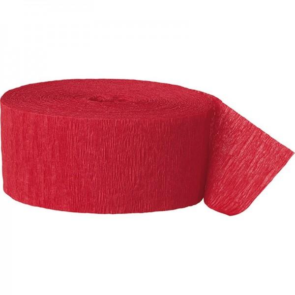 Banderole papier crépon Fiesta Red 24,6m