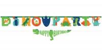 Dinoparty Geburtstags-Girlande 230cm