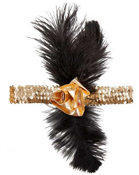 Elegantes Goldenes Charleston Stirnband