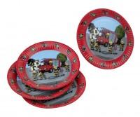 Feuerwehr Alarm Pappteller 23cm 8er Set