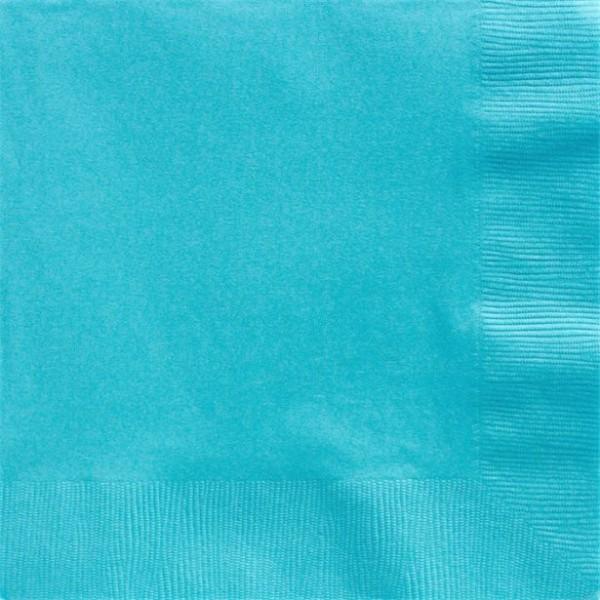 50 Azurblaue Papierservietten Basel 40cm