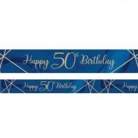 Luxurious 50th Birthday Banner 2,74m