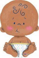 Folienballon Niedliches Baby sitzend XL