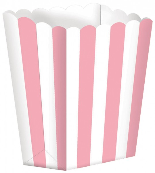 5 candy buffet snack boxes light pink