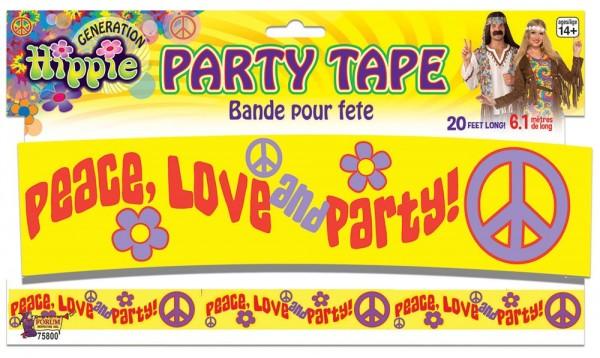 Absperrband Hippie Party 1