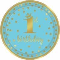 8 Bluestar 1st Birthday Teller 23cm