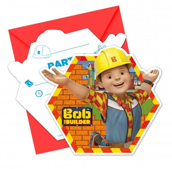6 Bob & Sein Team Einladungskarten 9x14cm