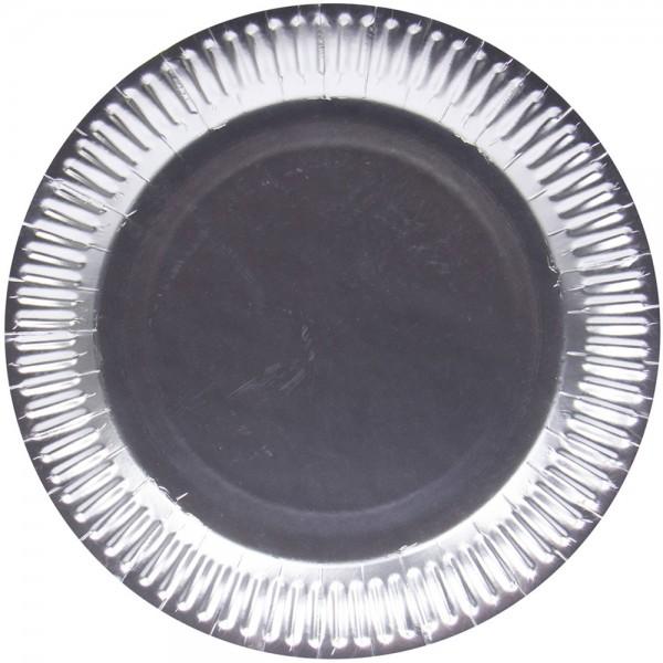 8 piatti argento opaco usa & getta 23cm
