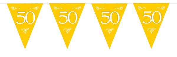 Banderín cadena bodas de oro 50