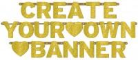 Glitzernde Create Your Own Banner Girlande Sparkling Wedding Day