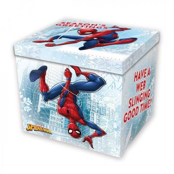 Weihnachtliche Spiderman Geschenkbox 27cm