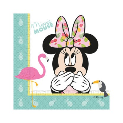 20 Tropical Minnie Mouse Servietten
