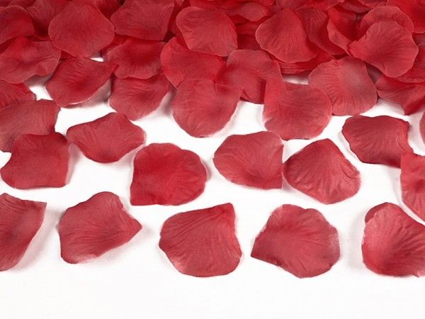 Romantische Rosenblätter Streudeko Rot 1