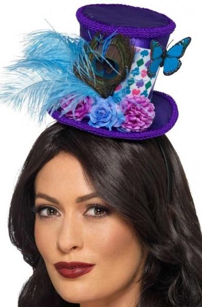 Märchenhafter Mini Hut violett-blau