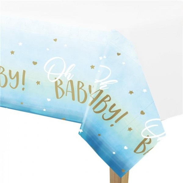 Oh Baby tablecloth blue 2.55mx 1.35m