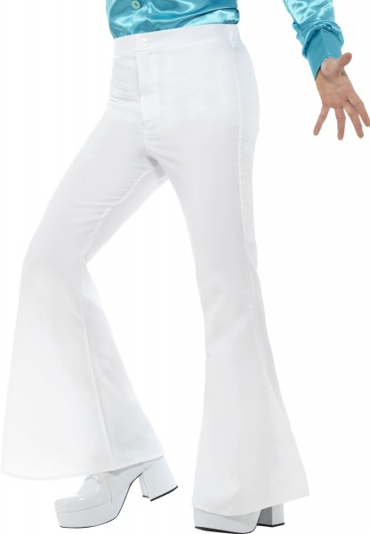 70s flared pants men white
