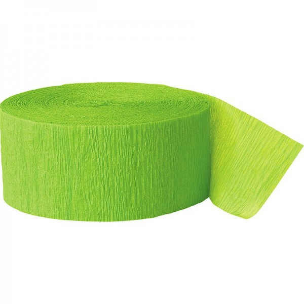 Serpentina de papel crepé Fiesta Kiwi Green 24,6m
