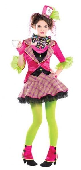 Knalliges Hutmacherin Kostüm Jazz für Mädchen