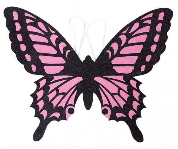 Rosa Schmetterlingsflügel 60 x 48cm