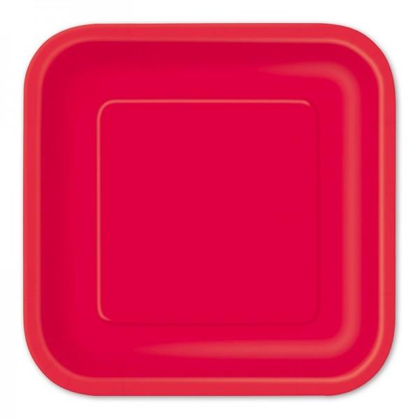 14 talerzy papierowych Vera czerwony 23 cm