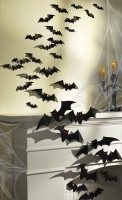 30 Halloween Deko Fledermäuse