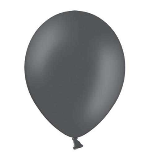 10 Partystar Luftballons anthrazit 27cm