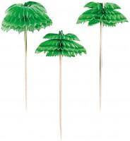 12 Tropische Palmen Spieße 7,6cm