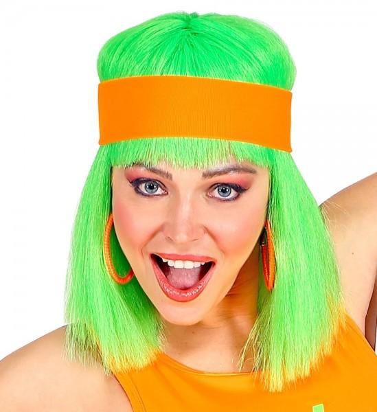 80er Neon Stirnband Kathy orange