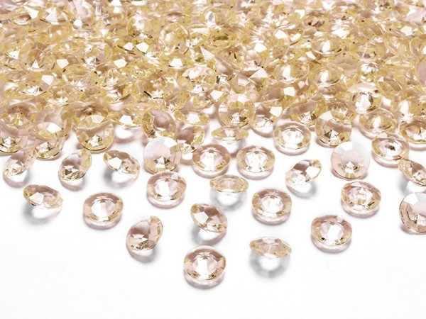 100 Table Confetti Diamonds Gold 1.2cm