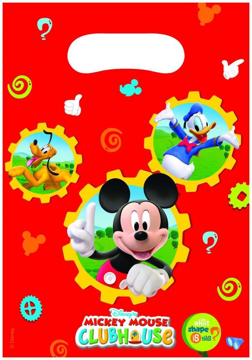 6 Bolsos De Regalo Mickey Mouse Clubhouse 28 5 X 17cm