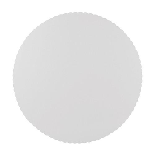 10 talerzy FSC Scarletti białe 28 cm