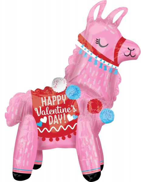 Be my Valentine Lama: palloncino 45 x 55 cm