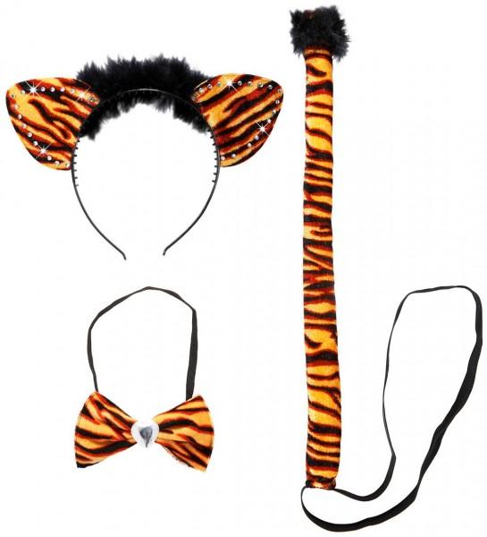3-teiliges Tigalina Tiger Kostüm Set
