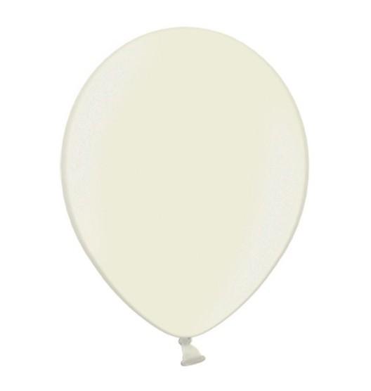 100 Latexballons Metallic Elfenbein 25cm