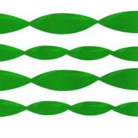 Grüne Krepppapier Luftschlange 1,52m