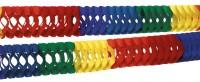 2 Rainbow Colorful Girlanden 7cm x 2,5m