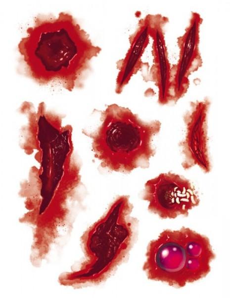 Tatuajes de heridas sangrientas
